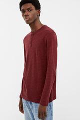 Springfield Camiseta manga larga tricot rojo