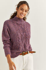 Springfield Jersey cable knit piedra
