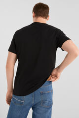 Springfield Camiseta manga corta foto metro negro