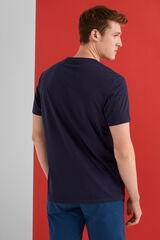Springfield Camiseta manga corta logo azul