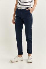 Springfield Pantalón chino azul mezcla
