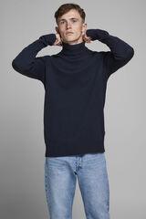 Springfield Jersey cuello alto sostenible azulado