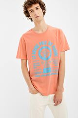 Springfield Camiseta manga corta neon grand prix rosa