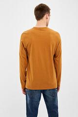 Springfield Camiseta de manga larga peach crudo