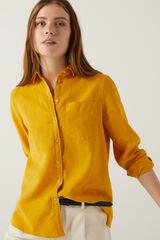 Springfield Blusa lino algodón orgánico amarillo
