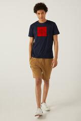 Springfield T-shirt logo kappa azulado