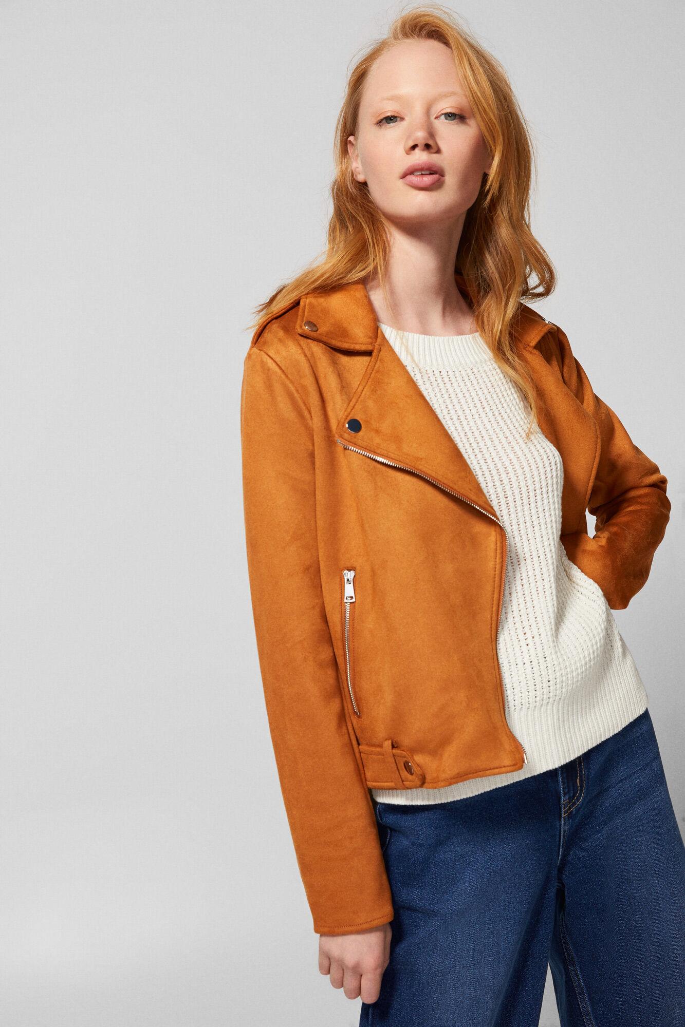 muchos de moda diseño de moda comprando ahora CHAQUETA MOTERA EFECTO ANTE | Abrigos y chaquetas | Fifty