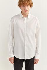 Springfield Camisa dobby slim blanco