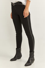 Springfield Jeans Cinta Lateral negro