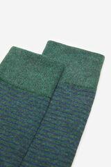 Springfield Calcetín rayas verde oscuro