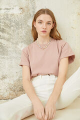 Springfield Camiseta básica algodón orgánico rosa