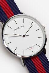 Springfield Reloj tape reversible rojo real