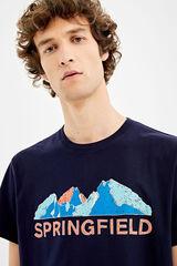 Springfield Camiseta manga corta springfield montaña azulado