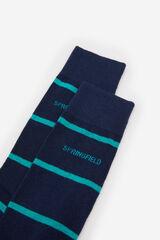 Springfield Calcetín rayas azulado