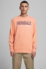 Springfield Sweatshirt logo gola redonda rosa