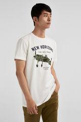 Springfield Camiseta print avioneta crudo