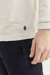 Springfield Camisola de algodão melange com cotoveleiras cinza claro