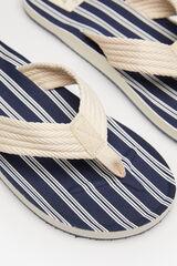 Springfield Sandalia flip flop rayas azulado