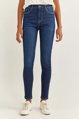 Springfield Jeans Talle Alto Skinny azul