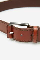 Springfield Cinturón piel tejano marrón