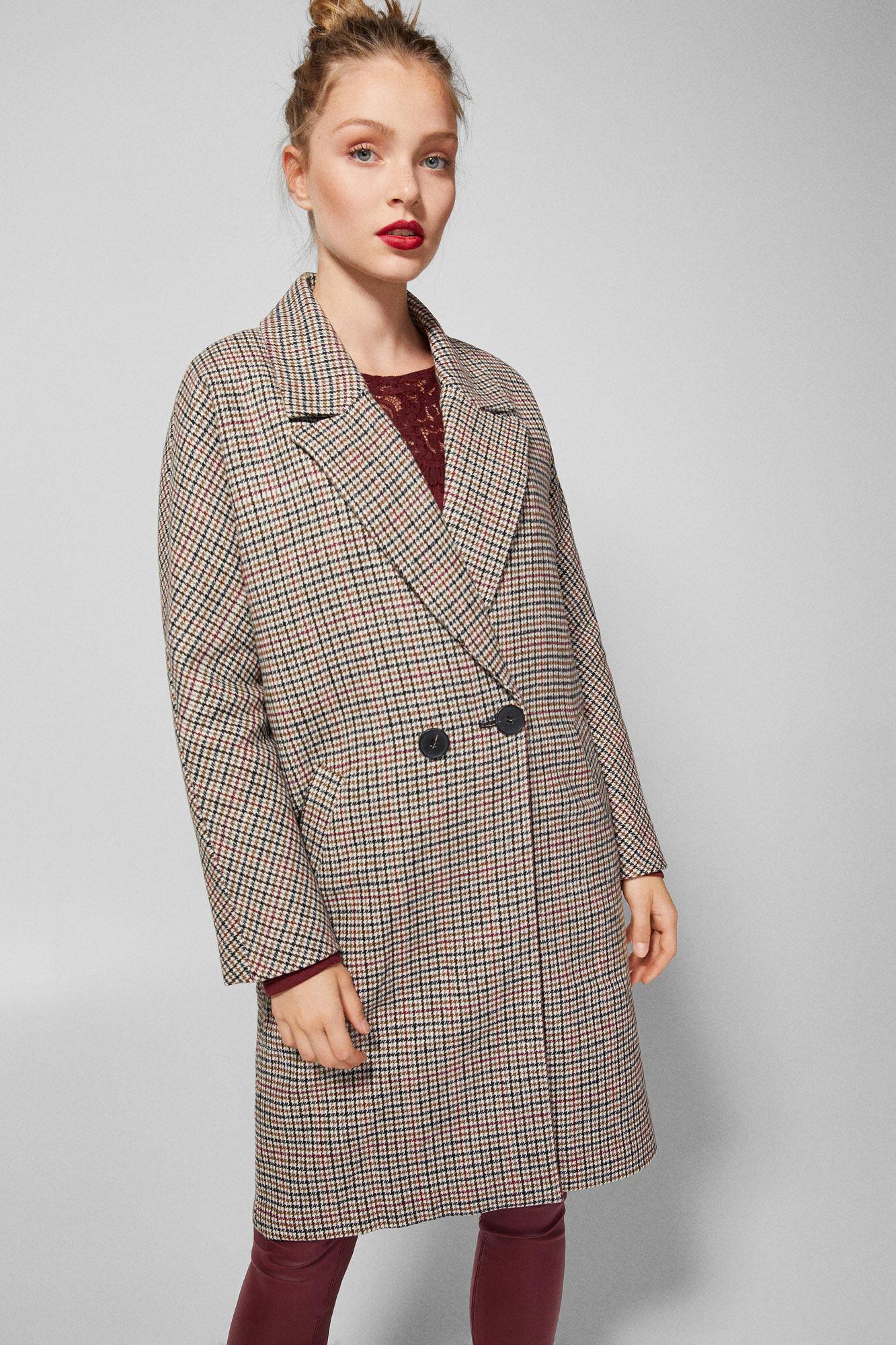estética de lujo diseño distintivo venta barata ee. Abrigo estampado 'pepita' | Abrigos y chaquetas | Fifty