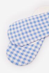 Springfield Calcetín invisible cuadros azul acero