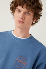 Springfield Sweatshirt básica de gola redonda azulado