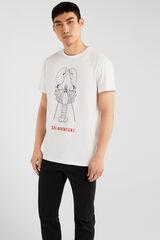 Springfield Camiseta manga corta langosta blanco