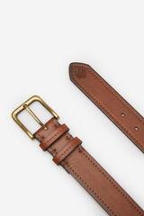 Springfield Cinturón tejanero efecto piel marrón