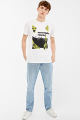 Springfield Camiseta manga corta mountain ripped blanco