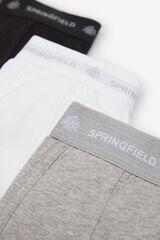 Springfield PACK 3 BOXERS BÁSICOS blanco