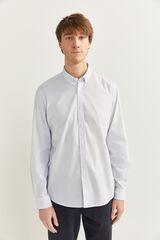 Springfield Camisa slim rayas blanco