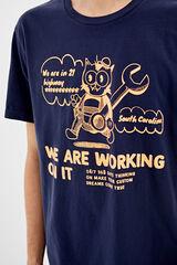 Springfield Camiseta manga corta neon gato azulado