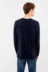 Springfield Camiseta manga larga block color azul