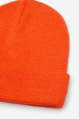 Springfield Gorro básico punto naranja
