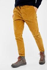 Springfield Chino pana cinturilla elástica color