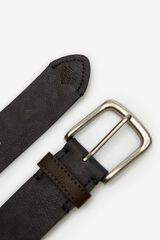 Springfield Cinturón básico efecto piel azul