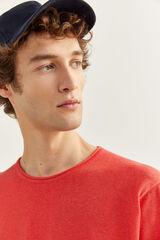 Springfield Camisola de algodão melange com cotoveleiras red