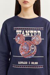 Springfield Sudadera Wanted Mickey azul mezcla