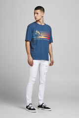 Springfield Camiseta algodón print azulado