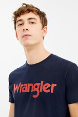 Springfield Camiseta Wrangler logo tee azul
