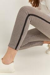 Springfield Pantalón Legging Estructura Raya Lateral marrón