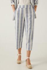 Springfield Calças culotte linho sustentável azul