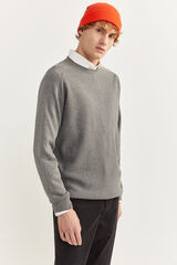 Springfield Jersey cuello redondo estructura gris