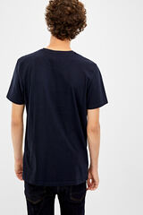 Springfield Camiseta manga corta crossed tracks azul