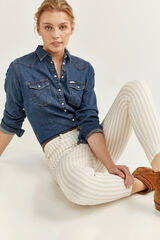 Springfield Jeans Color Slim Cropped beige medio