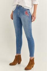 Springfield Jeans Flor Bordada azul