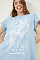 "Springfield Camiseta ""Blondie"" algodón orgánico azul royal"