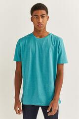 Springfield T-shirt microriscas bordada azul