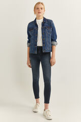 Springfield Jeans Slim Cropped navy mezcla